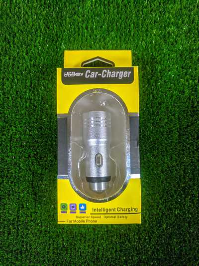 USB Car Charger Silver