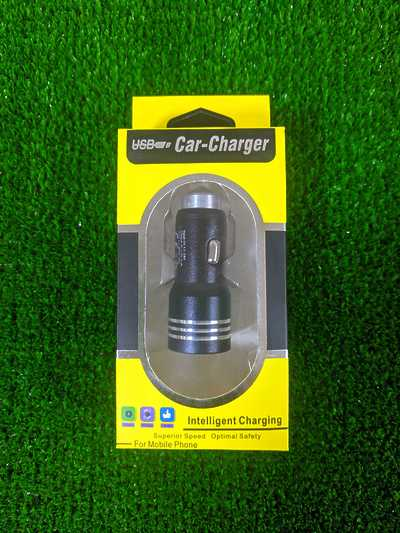 USB Car Charger Black